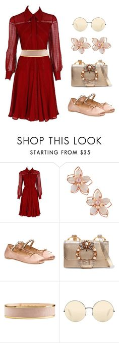 """Valentino dress  *** (ms)"" by ale-pink5 ❤ liked on Polyvore featuring Valentino, NAKAMOL, Miu Miu, Balmain and Victoria Beckham"