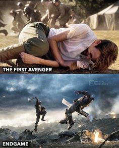 """It's 2011 and you're on your way to watch Captain America: The First Avenger in theaters and someone stops you and tells you """"In 8 years you're going to see Cap wield Thor's hammer and beat the shit out of Thanos with it. The Avengers, Avengers Memes, Marvel Memes, Marvel Dc Comics, Loki, Brooklyn, Marvel Funny, Best Funny Pictures, Funny Pics"""