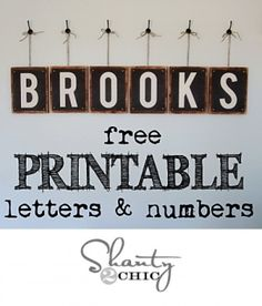 Free Printable � Letters & Numbers by Subjects Chosen at Random