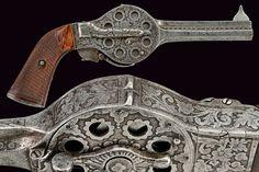 Revolver 12 coups, calibre 7 mm,  maison Noël & Guéry, France, 19ème siècle