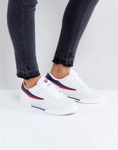 c7ede788455f Fila Original Fitness Perf Sneakers In White Fila Original Fitness