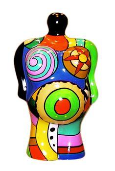 California Nana Vase, 2000 [painted polyester, 13 1/5 × 8 × 7 1/2 in  33.6 × 20.2 × 19 cm] https://artsy.net/artwork/niki-de-saint-phalle-california-nana-vase