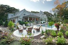 Hamptons Willow Residence traditional patio