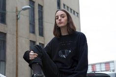Black Sweatshirt Whale Jumper Save the whale Whale by NoaGoffer