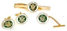 US Army Gift Set: Cufflink, Tie Bar & Tie Pin - Military Cufflinks - Cufflinks