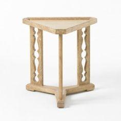 "Porter Drinks Table (Cerused Oak) - Bunny Williams Home 19"" dia"