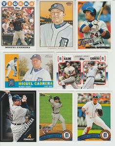 Huge 30 different MIGUEL CABRERA cards lot 2008 - 2016 all Tigers chrome premium #DetroitTigers