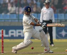 Sachin Tendulkar cuts during his half-century, India v West Indies, 1st Test, New Delhi, 4th day, November 9, 2011 200th.in