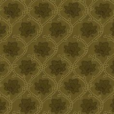 Elementary Collection, Olive Green Medallion Floral, Studio E (By Half Yard)