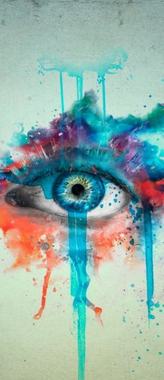 Mystical Eye // water color #art #illustration #colors    ...BTW,Please Check this out:  http://artcaffeine.imobileappsys.com