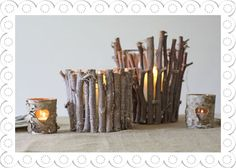Twig Wedding Decorations | ... Wedding Table Decorations & Wedding Centrepieces : Rustic Twig Vase
