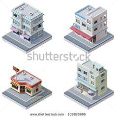 stock-vector-vector-isometric-buildings-set-108828986.jpg (450×454)