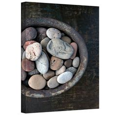 Elena Ray 'Still Life Stone Bowl' Gallery-wrapped Canvas Art | Overstock™ Shopping - Top Rated ArtWall Canvas, 16 x 24, $78.00
