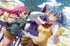 rosario+vampire Part 1 - - Anime Image Girl Wallpaper, Wallpaper Backgrounds, Desktop Wallpapers, Nisekoi Wallpaper, Vampire Images, Rosario Vampire Anime, Anime Mouse Pads, Anime School Girl, Anime Girls