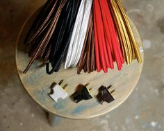 8 Feet of 2-Wire Cloth Covered Cord & Plug, Vintage Style Cloth Lamp Wire Kit, For Floor Lamps, Desk Fans, Radio rewiring etc