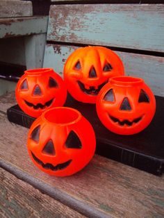 Vintage Halloween Pumpkin Jack o lantern by primitivepincushion