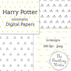 "⚡ Harry Potter minimalist Digital Papers - jpeg, 300 dpi , 16 designs ⚡ - - - - - - - - - - - - - - - - - - - - - - - - - - - - - - - - - - - - - - - - - - - - - - - - - - - - - - -  The pack includes: 16 images in jpeg format. Size: 12"" x 12"" in 300dpi (3600 x 3600px). Ready to print.  You will receive 2 Zip files on your download.  Once your payment is processed you will receive an email with a link to your download.  For personal use only. Please do not distribute, upload , share or…"