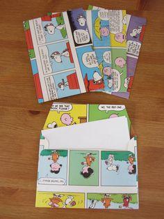 Snoopy+envelopes+Set+of+6+by+ChubbyHedgehog+on+Etsy,+£4.00