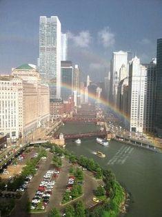 Rainbow, In Chicago. ❤