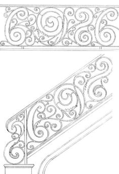 Stair Railing Designs ISR068