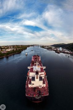 130 of 365  05/10/2013  The Florida Voyager    The view from the top of the Saint Johns bridge is amazing, especially when huge oil riggers like the Florida Voyager show up.     This is 10 vertical 18mm photos stitched.  Like on Facebook  http://facebook.com/shoottheskies  Shoot The Skies Post   http://www.shoottheskies.com/post/50382411461/130  Twitter  http://twitter.com/shoottheskies