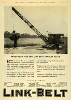 296 best old school heavy equipment images in 2019 antique 1922 ad link belt crawler crane machinery construction equipment mechanical wire original print ad 32 95