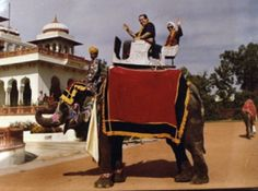 """""""It was quite a magnificent, very elegant elephant,"""" Ginsburg said. """"And my feminist friends, when they see the photograph of Ginsburg and Scalia on this elephant, say, 'Ruth, why are you sitting in the back?'"""""""