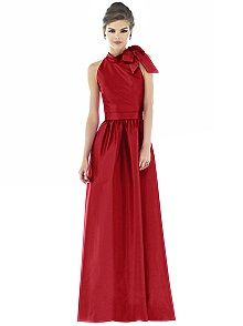 Alfred Sung Style D535    #red #bridesmaid #dress