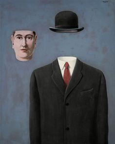 Le pelerin de René Magritte La dicotomía entre cuerpo y mente