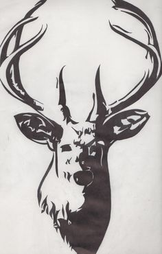 hand-drawing. deer