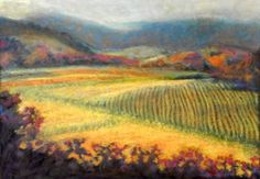 oil pastel art | Spring Green, an origiinal oil pastel painting by Roberta Sieber