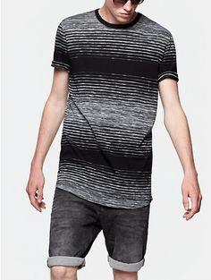 Striped T-shirt Black - The Sting