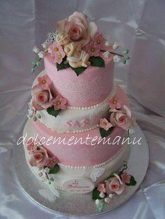 Fabulous!  Baby girl    (nestled in the roses ) shower cake   ~ all edible