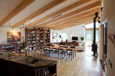 Earthship Farmstead - Contemporary - Family Room - Kaplan Thompson Architects