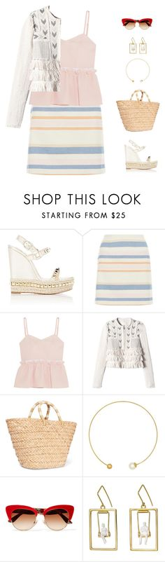 """""""pic nic chic"""" by candynena228 ❤ liked on Polyvore featuring Christian Louboutin, New Look, Steve J & Yoni P, Rebecca Taylor, Kayu, Majorica, Dolce&Gabbana and Yael & Tal"""