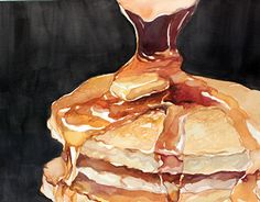 Watercolor illustrations of pastries and bread goods. Fatima Camiloza, Behance.