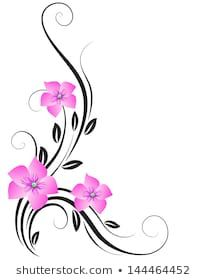 Blue Butterfly Discover Similar Images Stock Photos & Vectors of Beautiful pink butterfly on floral background. Raster version of vector. Glass Painting Designs, Paint Designs, Flower Tattoo Designs, Flower Tattoos, Pink Butterfly, Butterfly Design, Floral Border, Fabric Painting, Flower Art