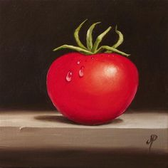 """Tomato"" - Original Fine Art for Sale - © Jane Palmer"
