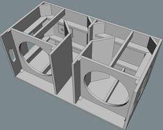 Kuvahaun tulos: subwoofer box design for 12 inch Diy Subwoofer, Subwoofer Box Design, Speaker Box Design, Sub Box Design, Audio Box, Loudspeaker Enclosure, Woofer Speaker, Speaker Plans, Audio Amplifier