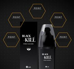 Are you irritated having a blackheads? A shamed to someone and losing self confidence? Here's your solution for all your worries! Black kill pore cleaner helps you to close your open pores so that blackheads will no longer become active anymore. It has also a whitening effects and moisturizer to blemish more your skin. Take care of your face, make it more smoother.