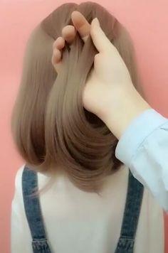 Braided Hairstyles Tutorials, Easy Hairstyles For Long Hair, Braids For Long Hair, Diy Hairstyles, Easy Hair Braids, Braid Short Hair, Hairstyles With Braids, Easy Hairstyles For Short Hair, Short Hair Braids Tutorial