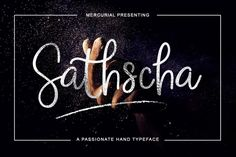 Sathscha is a free font that will be a wonderful addition to your ever growing font collection and comes with a commercial license.