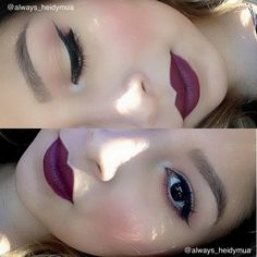 "Fall look: MAC ""Viva Glam III"" and ""Currant"" lip liner; MAC ""Coppering"" eye shadow on bottom lid"