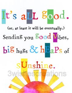 8 x 10 Whimsical Art Print It's All Good by 3WishesCreations