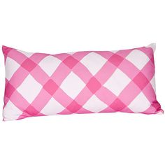 Dana Gibson Gingham 12x24 Pillow Pink Decorative Pillows ($165) ❤ liked on Polyvore featuring home, home decor, throw pillows, pink, gingham throw pillows, pink home decor, pink toss pillows, pink accent pillows and pink throw pillows