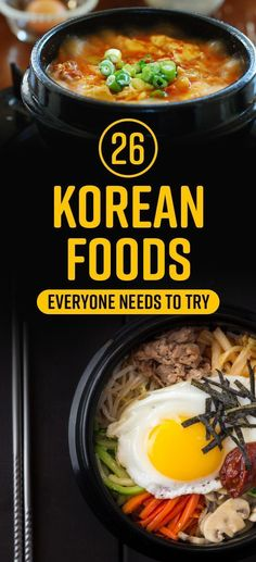26 Delicious Korean Foods You Need In Your LifeYou can find South korean food and more on our Delicious Korean Foods You Need In Your Life Asia Food, South Korean Food, Korean Food List, Best Korean Food, K Food, Veggie Food, Food Menu, Korean Dishes, Cooking Recipes