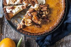 Pumpkin pie is often served at Thanksgiving and Christmas, which fall during the harvest season in the US and Canada. If you've never made pumpkin pie before, I warn you it's addictively good. This keeps for a few days in the fridge.