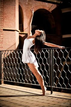 Senior Portrait / Photo / Picture Idea - Girls - Dance / Dancer - Ballet / Ballerina - Fence / Railing / Gate