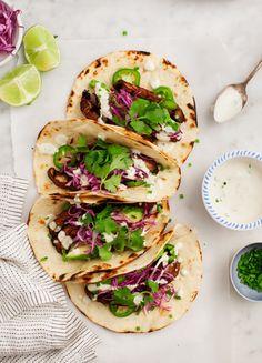 Portobello Tacos w/ Vegan Jalapeño Sauce