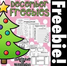 "UPDATED Nov. 20, 2015! Enjoy these freebies! YES!!! FREEBIES!!!!! A ""Happy Holidays"" present from me to YOU! YAY! Pick and choose the freebie that fits the needs of your students!!! GREAT for 1st-2nd Grade!!! (some items might even be suitable for"